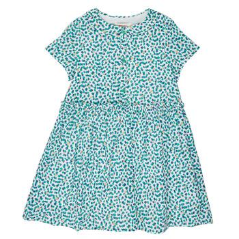 Oblačila Deklice Kratke obleke Catimini ELLA Zelena / Modra