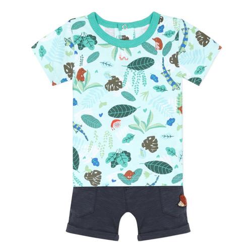 Oblačila Dečki Otroški kompleti Catimini THOMAS Modra