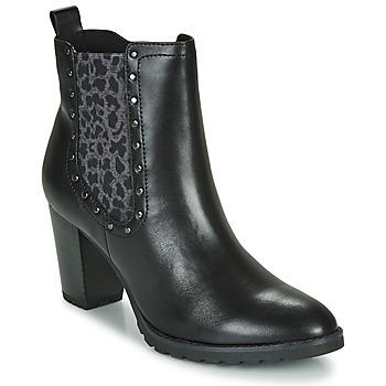 Čevlji  Ženske Gležnjarji Caprice LUTIMA Črna