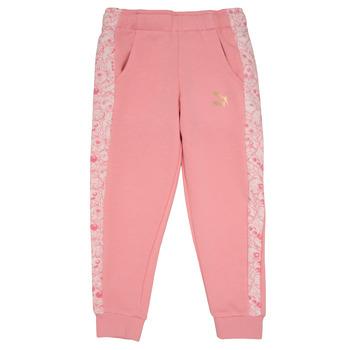 Oblačila Deklice Spodnji deli trenirke  Puma MONSTER SWEAT PANT GIRL Rožnata