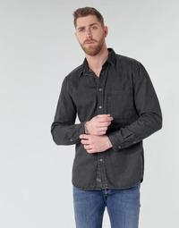 Oblačila Moški Srajce z dolgimi rokavi Diesel D-BER-P Črna