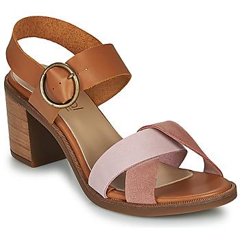 Čevlji  Ženske Sandali & Odprti čevlji Casual Attitude MEL Kamel / Rožnata