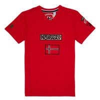 Oblačila Dečki Majice s kratkimi rokavi Geographical Norway JIRI Rdeča