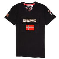 Oblačila Dečki Majice s kratkimi rokavi Geographical Norway JIRI Črna