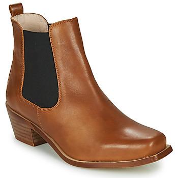 Čevlji  Ženske Gležnjarji Betty London MERKATO Cognac
