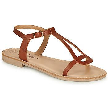 Čevlji  Ženske Sandali & Odprti čevlji Betty London MISSINE Cognac