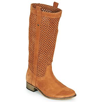 Čevlji  Ženske Mestni škornji    Betty London DIVOUI Cognac