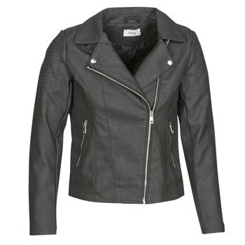 Oblačila Ženske Usnjene jakne & Sintetične jakne Only ONLMELANIE BIKER Črna