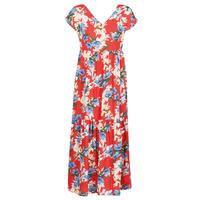 Oblačila Ženske Dolge obleke Betty London MALIN Rdeča / Bela / Modra