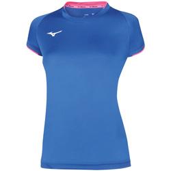 Oblačila Ženske Majice s kratkimi rokavi Mizuno Maillot  femme Core bleu royal/rose fluo
