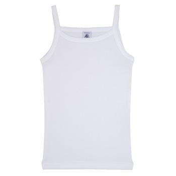 Oblačila Deklice Majice brez rokavov Petit Bateau 53295 Bela