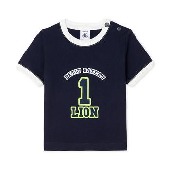 Oblačila Dečki Majice s kratkimi rokavi Petit Bateau FUDGE Modra