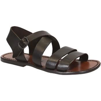 Čevlji  Moški Sandali & Odprti čevlji Gianluca - L'artigiano Del Cuoio 508 U MORO CUOIO Testa di Moro