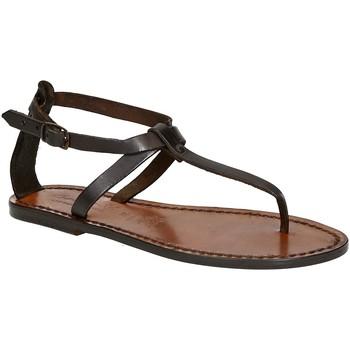 Čevlji  Ženske Sandali & Odprti čevlji Gianluca - L'artigiano Del Cuoio 582 D MORO CUOIO Testa di Moro