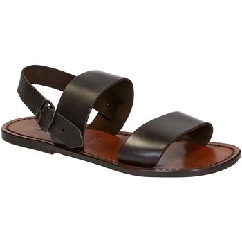 Čevlji  Moški Sandali & Odprti čevlji Gianluca - L'artigiano Del Cuoio 500 U MORO CUOIO Testa di Moro
