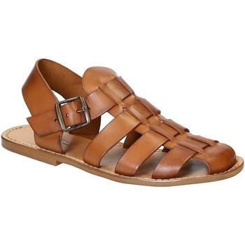 Čevlji  Moški Sandali & Odprti čevlji Gianluca - L'artigiano Del Cuoio 502 U CUOIO CUOIO Cuoio