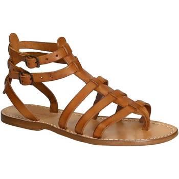 Čevlji  Ženske Sandali & Odprti čevlji Gianluca - L'artigiano Del Cuoio 506 D CUOIO CUOIO Cuoio