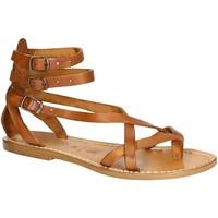Čevlji  Ženske Sandali & Odprti čevlji Gianluca - L'artigiano Del Cuoio 564 D CUOIO CUOIO Cuoio