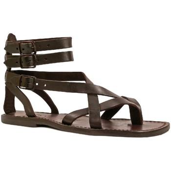 Čevlji  Moški Sandali & Odprti čevlji Gianluca - L'artigiano Del Cuoio 564 U MORO CUOIO Testa di Moro