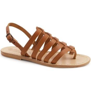 Čevlji  Ženske Sandali & Odprti čevlji Gianluca - L'artigiano Del Cuoio 576 D CUOIO LGT-CUOIO Cuoio