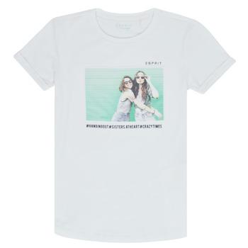 Oblačila Deklice Majice s kratkimi rokavi Esprit ELISH Bela
