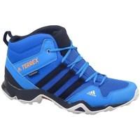Čevlji  Otroci Pohodništvo adidas Originals Terrex AX2R Mid CP Modra, Turkizna