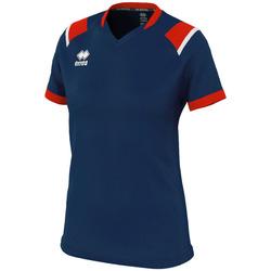 Oblačila Ženske Majice s kratkimi rokavi Errea Maillot femme  lenny bleu/marine/blanc