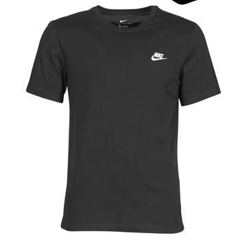Oblačila Moški Majice s kratkimi rokavi Nike M NSW CLUB TEE Črna / Bela
