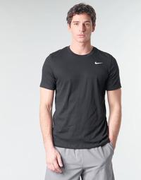 Oblačila Moški Majice s kratkimi rokavi Nike M NK DRY TEE DFC CREW SOLID Črna / Bela