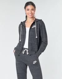 Oblačila Ženske Puloverji Nike W NSW GYM VNTG HOODIE FZ Siva