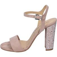 Čevlji  Ženske Sandali & Odprti čevlji Olga Rubini sandali camoscio sintetico strass Rosa