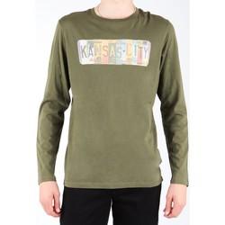 Oblačila Moški Majice z dolgimi rokavi Lee L848AI olive green