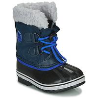 Čevlji  Otroci Škornji za sneg Sorel CHILDRENS YOOT PAC NYLON Modra