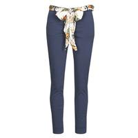 Oblačila Ženske Hlače s 5 žepi Betty London MIRABINE Modra