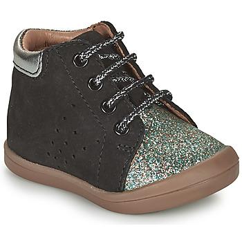 Čevlji  Deklice Visoke superge GBB NAHIA Črna