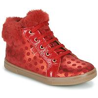 Čevlji  Deklice Visoke superge GBB JUNA Rdeča
