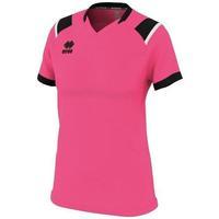 Oblačila Ženske Majice s kratkimi rokavi Errea Maillot femme  lenny vert/noir/blanc