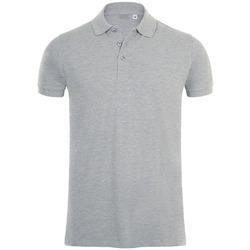 Oblačila Moški Polo majice kratki rokavi Sols PHOENIX MEN SPORT Gris