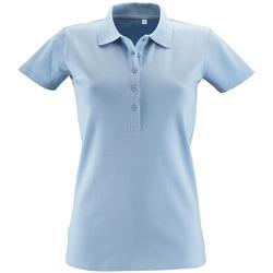 Oblačila Ženske Polo majice kratki rokavi Sols PHOENIX WOMEN SPORT Azul