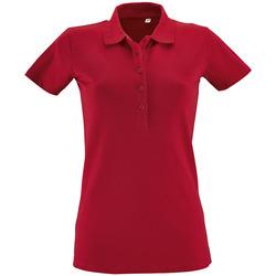 Oblačila Ženske Polo majice kratki rokavi Sols PHOENIX WOMEN SPORT Rojo
