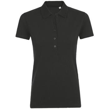 Oblačila Ženske Polo majice kratki rokavi Sols PHOENIX WOMEN SPORT Negro