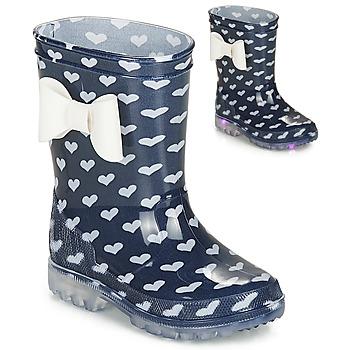 Čevlji  Deklice škornji za dež  Be Only AMOUR FLASH Modra