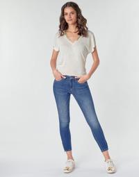 Oblačila Ženske Hlače cargo Only ONLKENDELL Modra