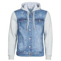 Oblačila Moški Jeans jakne Yurban LAURYNE Modra
