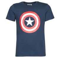 Oblačila Moški Majice s kratkimi rokavi Yurban CAPTAIN AMERICA LOGO Modra