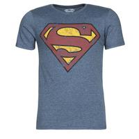 Oblačila Moški Majice s kratkimi rokavi Casual Attitude SUPERMAN LOGO VINTAGE Modra