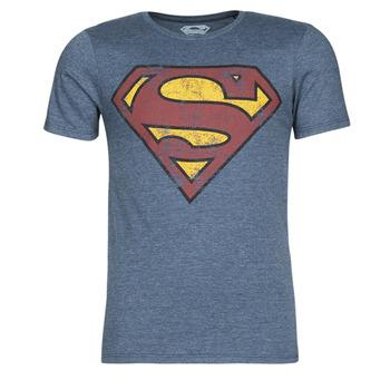 Oblačila Moški Majice s kratkimi rokavi Yurban SUPERMAN LOGO VINTAGE Modra