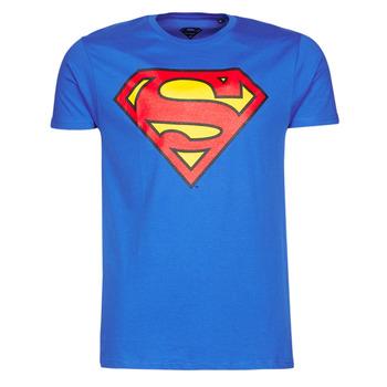 Oblačila Moški Majice s kratkimi rokavi Yurban SUPERMAN LOGO CLASSIC Modra