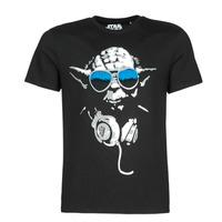 Oblačila Moški Majice s kratkimi rokavi Yurban DJ YODA COOL Črna