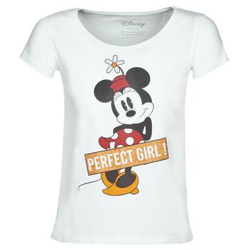 Oblačila Ženske Majice s kratkimi rokavi Yurban MINNIE PERFECT GIRL Bela